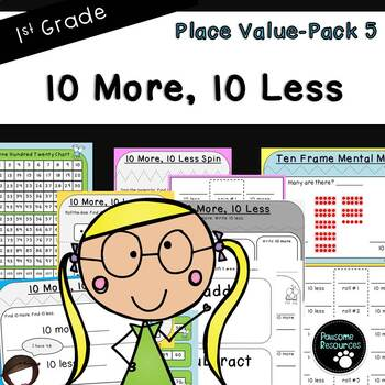 10 More, 10 Less-Place Value Pack 5 (First Grade, 1.NBT.5)