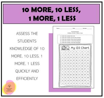 10 More, 10 Less Pre-Assessment
