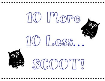 10 More 10 Less Scoot