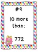 10 More, 10 Less Scoot- 3 whole class place value task card math games!