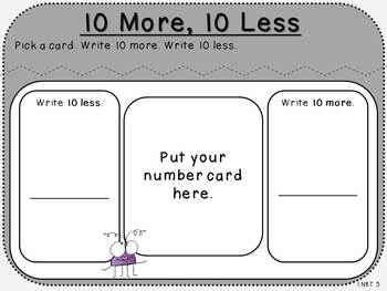 10 More, 10 Less-Student Mat (First Grade, 1.NBT.5)