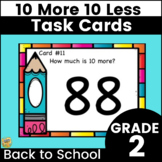 10 More, 10 Less Task Cards - Mental Math - Center or SCOOT Game