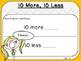10 More, 10 Less-Teacher Slides (First Grade, 1.NBT.5)