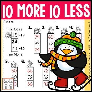 Ten More Ten Less Worksheets