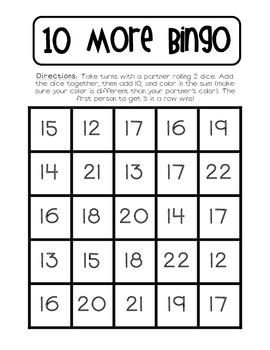 10 More Bingo