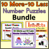 10 More 10 Less Number Puzzles Bundle