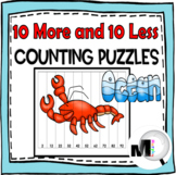 10 More and 10 Less Number Puzzles Ocean Theme