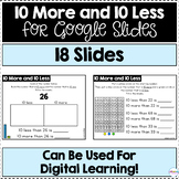 10 More and 10 Less for Google Slides | Distance Learning