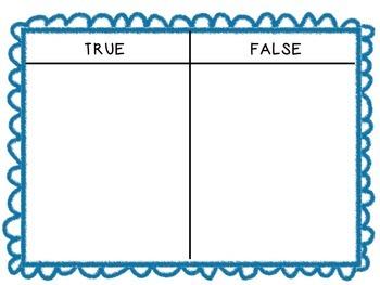 10 More or Less True or False