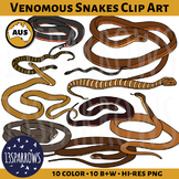 10 Most Venomous Snakes of Australia Clip Art
