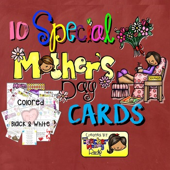 10 Mothers Day Cards [Colored and Black & White]