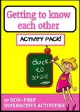 10 NO-PREP Back-To-School Activities