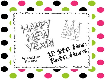 10 New Year Station Rotations Freebie