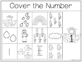 10 Noah's Ark themed Counting Work Mats/Worksheets. Bible Math Curriculum.