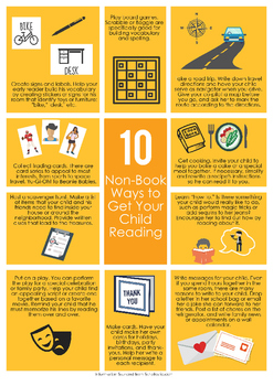10 Non-Book Ways to Get Your Child Reading Handout