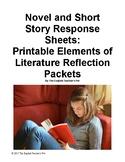 10 Novel and Short Story Response Printable Worksheets