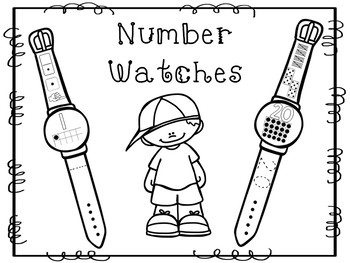 10 Number Watches Printable Activity in a PDF file.Preschool-KDG.
