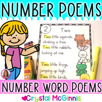 10 Number Word Poems for Shared Reading (Sight Word Poems for Beginning Readers)