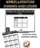 10 Numbers and Operations in Base Ten PowerPoint Lessons with Worksheets