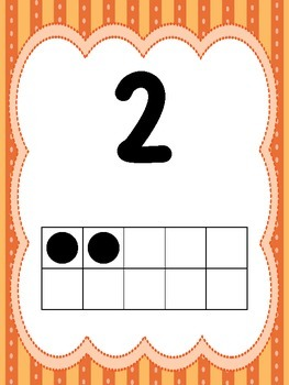 10  Numbers 1-10 Ten Frame Posters/Anchor Charts for your Classroom. Pre-K-2nd