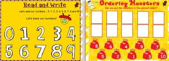 10 Numbers to 10 Interactive Smartboard Activities Pre K-2