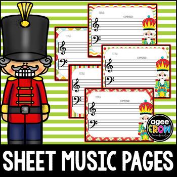 Blank Sheet Music (10) Nutcracker, Winter Activities - Christmas, Bulletin
