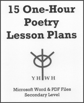 15 One-Hour Poetry Lesson Plans or Activities