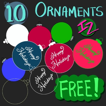 10 Ornaments Freebie