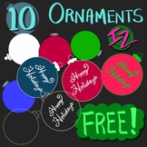 10 Ornaments Freebie
