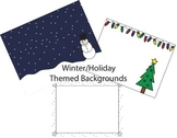 22 PDF Winter/Holiday Backgrounds