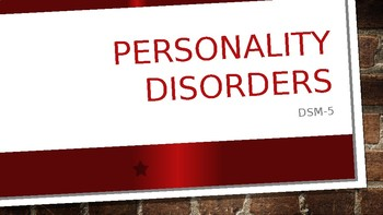 10 PERSONALITY DISORDERS