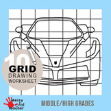 10 Pack Grid Drawing Worksheets for Middle/High School