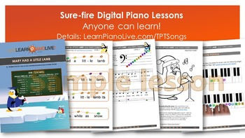 10 Song Mega-Pack 195-Page Bundle of piano lessons, play-a