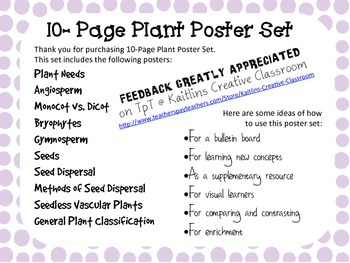10-Page Plant Poster Set