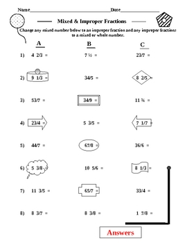 10 Pages of Fractions Practice