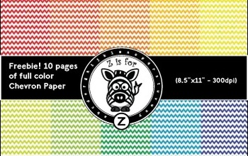 10 Pages of full color chevron paper - Freebie - ZisforZebra
