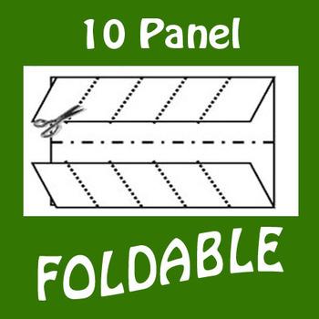10 Panel Foldable Graphic Organizer - Horizontal Layout