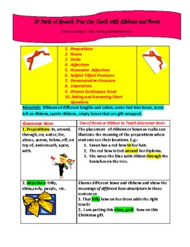 10 Parts of Speech You Can Teach Using Ribbons and Bows!