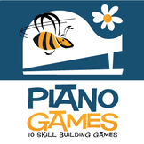 10 Piano Games for Kids   Skill-Building Games for K-3  (Digital Print)