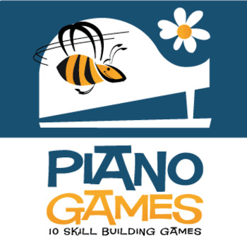 10 Piano Games for Kids | Skill-Building Games for K-3 (Digital Print)