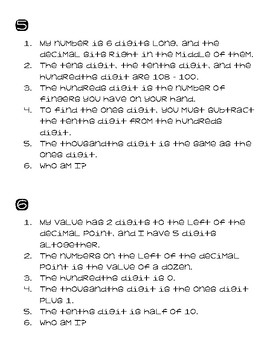 10 Place Value Riddles
