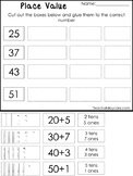 10 Place Value Worksheets.  Base 10, Tens and Ones, Expand