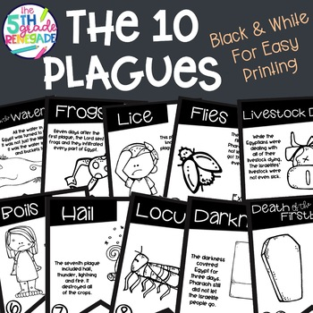 10 Plagues Banner Black & White for Easy Printing