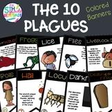 10 Plagues Bible Color Banners with Melonheadz Clip Art