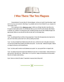 10 Plagues Writing Prompt