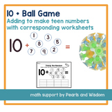 Adding to Make Teen Numbers | 10 Plus a Number Ball Game