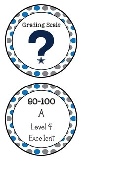 10 Point Grade Scale (blue & gray)