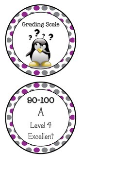 10 Point Grade Scale (purple & gray)