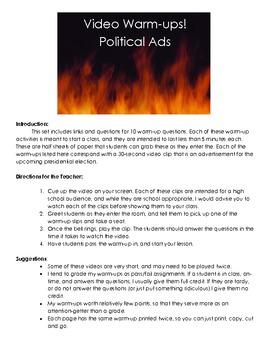 10 Political Ad Warm-ups