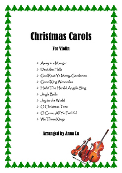 10 Popular Christmas Carols - Violin